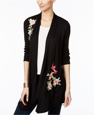 Inc International Concepts Embroidered Open-Front Cardigan, Created for Macy's $79.50 thestylecure.com