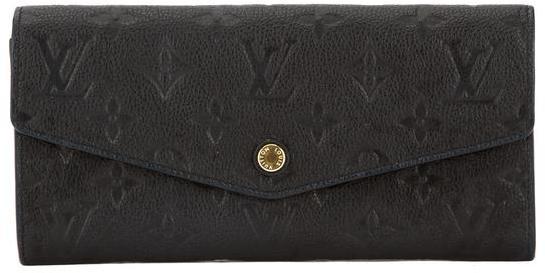 Louis VuittonLouis Vuitton Noir Monogram Empreinte Leather Curieuse Wallet (Pre Owned)