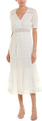 Love Sam Embroidered Midi Dress