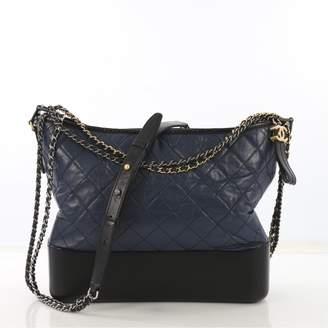 Chanel Gabrielle Blue Leather Handbag