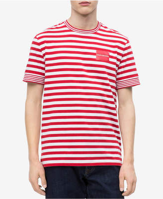 Calvin Klein Jeans Men's Striped Pocket T-Shirt