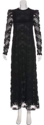 Giamba Lace Maxi Dress Black Lace Maxi Dress
