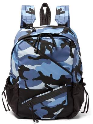 Valentino - Camouflage Backpack - Mens - Blue Multi