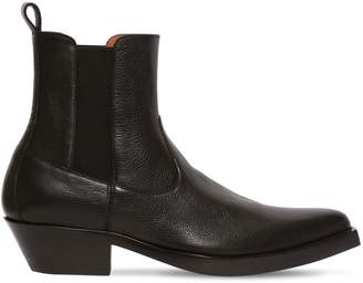Givenchy 40mm Leather Western Boots