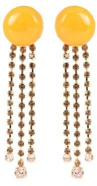 Marni Crystal-embellished clip-on earrings