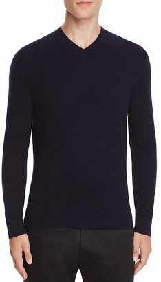 Theory Donners Cashmere V-Neck Sweater $285 thestylecure.com