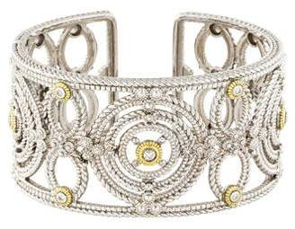 Judith Ripka Diamond Garland Wide Kick Cuff