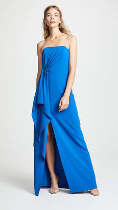 Halston Strapless Drape Gown
