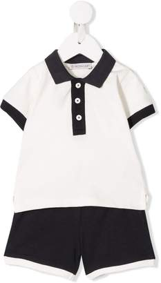 Moncler polo with shorts