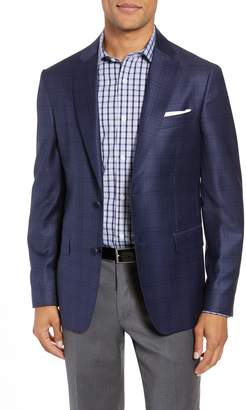John W. Nordstrom R) Traditional Fit Plaid Wool Sport Coat