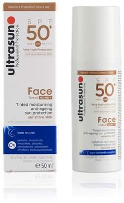 Ultrasun 50 SPF Tinted Face Honey 50ml - No Colour