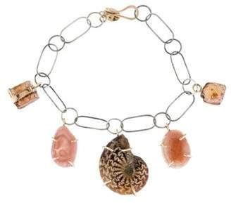 Melissa Joy Manning Ammonite, Jasper & Agate Charm Bracelet