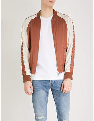 The Kooples Piped satin bomber jacket
