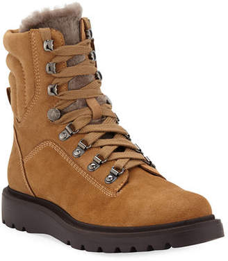 4ad70ac4bfb Aquatalia Christie Weatherproof Suede and Shearling Boots