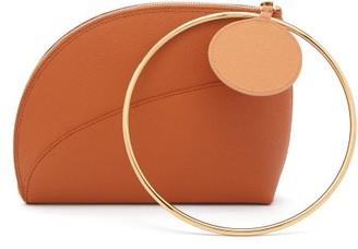 Roksanda Eartha Dot Bi Colour Leather Clutch - Womens - Tan