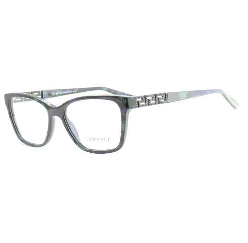 Versace Rectangular Eyeglass Frames 3192B 52mm Marble Black