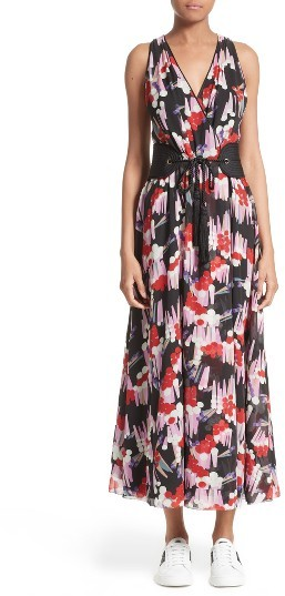 Marc Jacobs Women's Marc Jacobs Print Silk Midi Dress