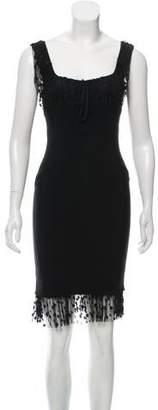 Anna Molinari Lace-Accented Silk Dress