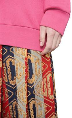 Gucci Lurex game wool skirt