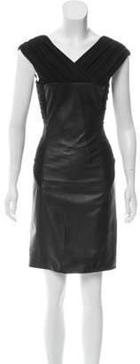 Alberta Ferretti Paneled Leather Dress