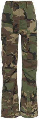 RE/DONE camouflage print cargo trousers