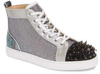 Christian Louboutin Louis Orlato Crystal High Top Sneaker