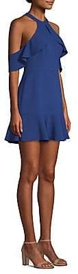 BCBGMAXAZRIA Women's Cold-Shoulder Fit-&-Flare Dress