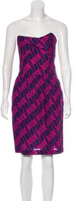 Diane von Furstenberg Printed Bandeau Mini Dress