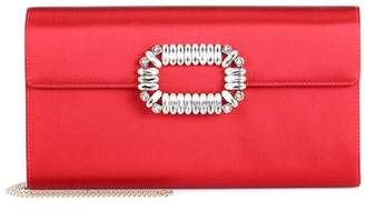 Roger Vivier Evening Envelope satin clutch