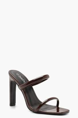 boohoo Double Strap Mule Heels