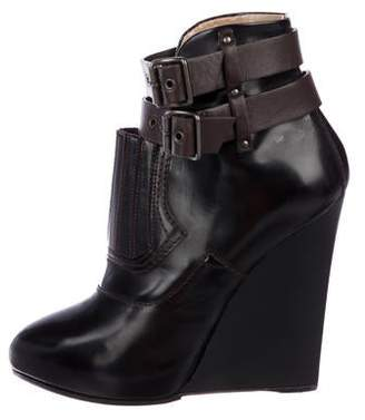 Proenza Schouler Leather Wedge Ankle Boots