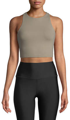Alo Yoga Movement High-Neck Lace-Up Back Performance Sports Bra
