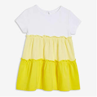 Joe Fresh Baby Girls' Tiered Dress, White (Size 6-12)