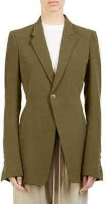 Rick Owens Crepe Wool Soft Blazer