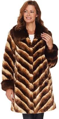 Dennis Basso Platinum Collection Faux Chinchilla Fur Coat