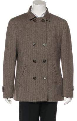 Brunello Cucinelli Cashmere & Wool Reversible Peacoat