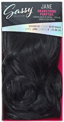 The Sassy Collection Jane Off Black 9 Inch Drawstring Ponytail