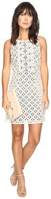 kensie - Graphic Geo Lace Dress KS3K7729 Women's Dress $89 thestylecure.com
