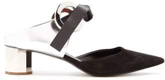 Proenza Schouler Front-tie blocked-heel suede mules