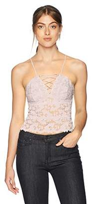 GUESS Women's Sleeveless Graham Lace up Camisole