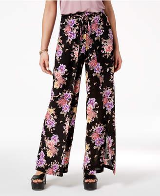 Hippie Rose Juniors' Printed Wrap Pants