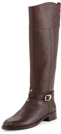 Tory Burch Marlene Leather Riding Boot