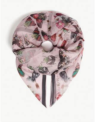 Alexander McQueen Butterfly print silk scarf