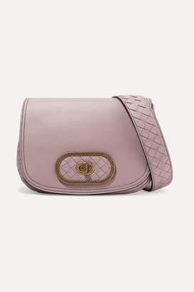 Bottega Veneta Luna Small Intrecciato Leather Shoulder Bag - Antique rose