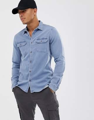 Voi Jeans jersey denim shirt