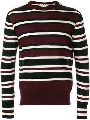 Marni contrast stripe sweater