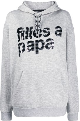 Filles a papa logo print hoodie