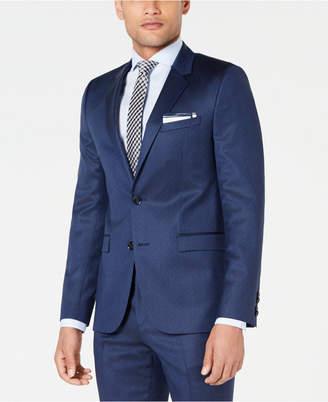 HUGO BOSS HUGO Men's Slim-Fit Navy Broken Stripe Suit Jacket