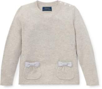 Ralph Lauren Bow-Pocket Wool Sweater