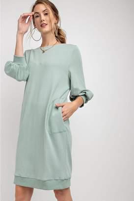 Easel Laceup Sweatshirt Dress